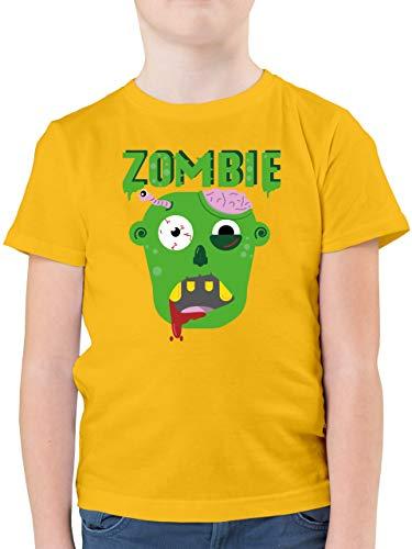 Halloween Kind - Zombie - 140 (9/11 Jahre) - Gelb - Zombies - F130K - Kinder Tshirts und T-Shirt für Jungen