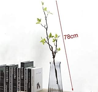 GANHUA Real Touch Artificial Tree Branches con Hojas Verdes para la decoración del hogar Artificial Greenery DIY Flower Arrange Fake Plant