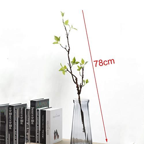 GANHUA Real Touch Kunstmatige Boomtakken met Groene Bladeren voor Huisdecoratie Kunstgroen DIY Bloem Schik Nep Plant