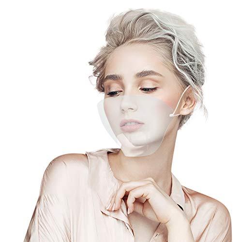 Ultraleichter Mund- und Nasenschutz, transparent, Kunststoff, Fettschutz, Gesichtsschutz, Universalgröße, Visier Anti-Speichel, Schutzvisier (20 Stück)