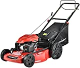 PowerSmart Self Propelled Gas Lawn Mower - 22 Inch, 200CC 4-Stroke Engine, 3-in-1 with Bag for Large...