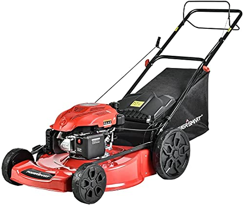 PowerSmart Self Propelled Gas Lawn Mower - 22 Inch, 200CC 4-Stroke Engine, 3-in-1 with Bag for Large Lawn Mowing, DB9422SR-DP
