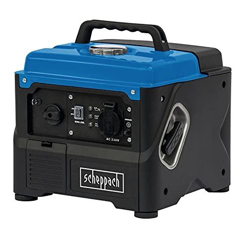 scheppach Inverter SG1400i Benzin Stromerzeuger Stromgenerator Generator mit Invertertechnik | max. 800W Leistung | 56cm³ Hubraum | 1x 230V Steckdose