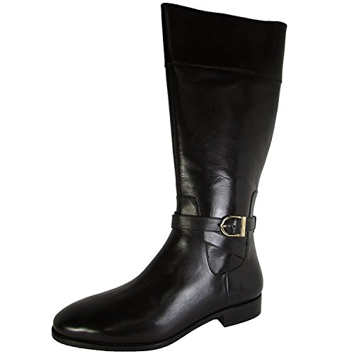 Cole Haan Womens Catskills Boot II Tall Riding Shoes, Black Leather, US 10.5