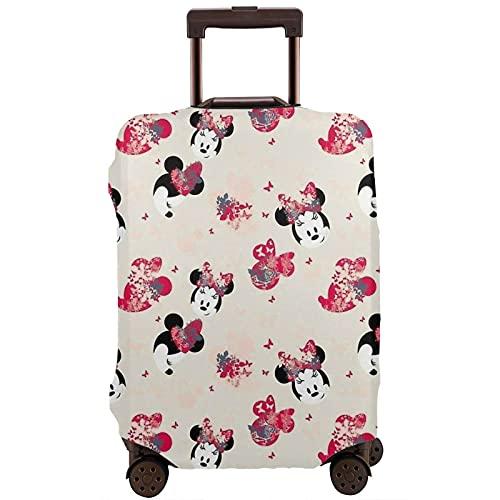 Mickey Cartoon Mouse Head Maleta funda protectora banda elástica caja protectora anti-arañazos Las mangas elásticas gruesas son fáciles de limpiar, impresas elegante y lindas