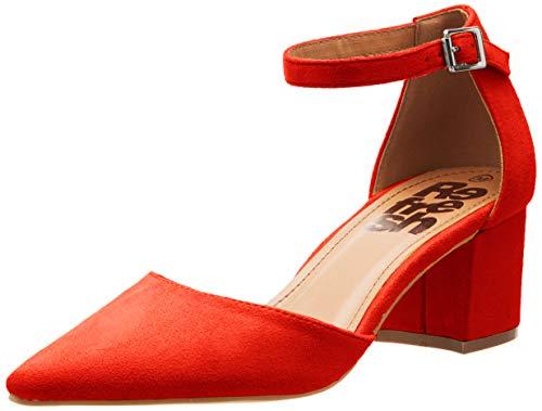 Refresh 69838, Zapatos de tacón con Punta Cerrada para Mujer, Rojo (Rojo Rojo),...