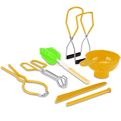 Canning Supplies Starter Kit, Include Canning Funnel, Jar Wrench, Canning Jar Lifter, Lid Lifter,...