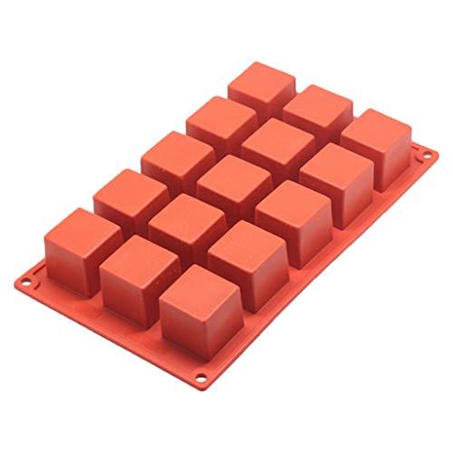 ZChun Moule De Gâteau De Silicone Carré De 15 Trous, Outil De Chocolat De Crème Glacée De Mousse De Gelée De Muffin De Gelée De DIY