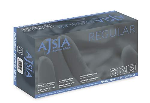 Guanti nitrile Regular (senza polvere) Ajsia Confezione 100 pezzi (XL)