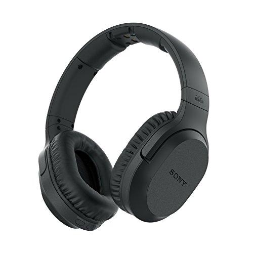 Sony MDR-RF895RK kabellose Kopfhörer (bis zu 100 Meter Reichweite, Geräuschminimierungssystem, 40-mm-Treiber, automatische Frequenzsuche, bis zu 20 Stunden Akkulaufzeit) Schwarz