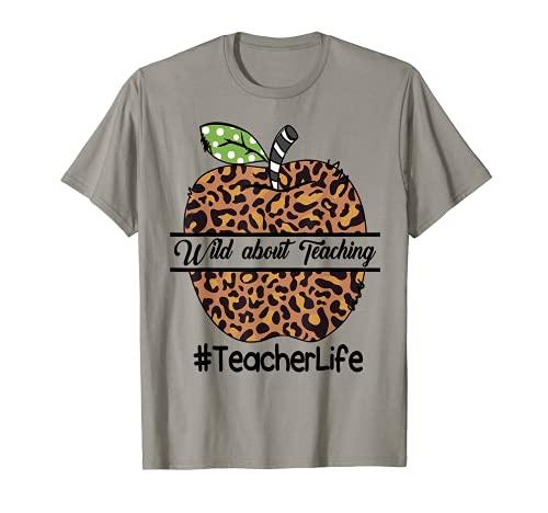Teacher Life Wild About Insegnamento Leopard Plaid - WITE Maglietta