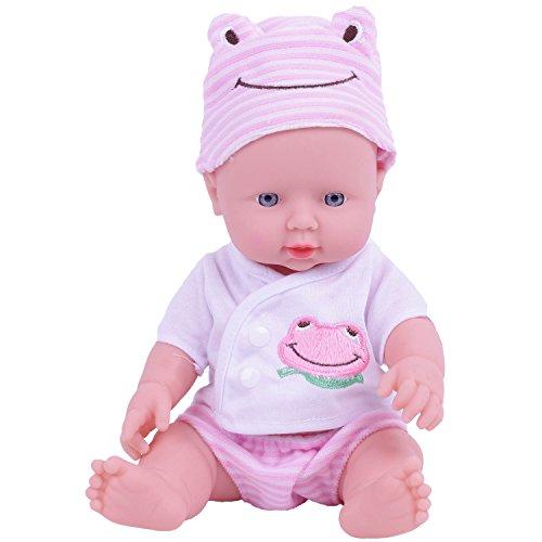 KIDDING 12-Inch Soft Vinyl Lifelike Baby Dolls for 3 Year Old Girl