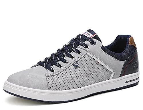 ARRIGO BELLO Sneakers Uomo Scarpe da Ginnastica Sportive Casual Running Fitness Basse Trekking Interior all'Aperto 40-46(44 EU, Y Grigio)