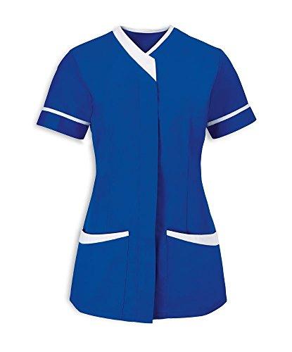 Instex Womens Asymmetrische Tuniek met Contrast Trim, tandarts dierenarts ziekenhuis schoonheidssalon, INS33RB