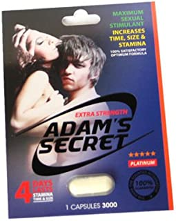 #1 Best Seller Adam's Secret Male Enhancement Stimulant Pills ✔ Discreet Delivery.