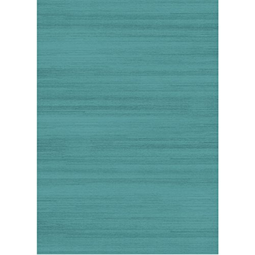 """RUGGABLE Solid Textured Ocean Blue Washable Indoor/Outdoor Stain Resistant 5'x7' (60""""x84"""") Area Rug 2pc Set (Cover and Pad)"""