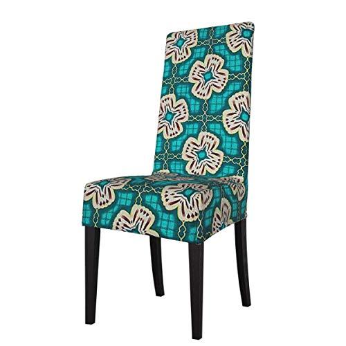 Funda para Silla Ideas Finales Flores Esmeralda Cross Stretch Impreso Fundas para sillas Fundas para sillas Lavables Protector Funda de Asiento para sillas