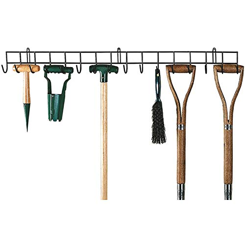 Bergman Extra-long Garden Tool Holder, Hanging Rack for your tools, Shed or Garage Wall Hanger Storage Unit Metal racking Organiser, 11.5cm x 1m