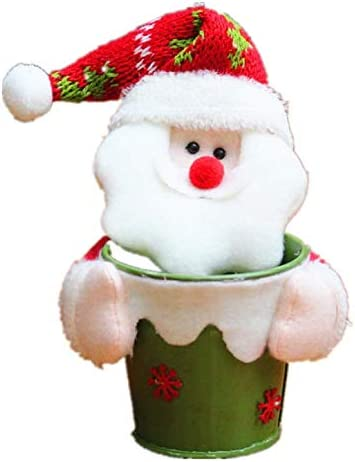 US-DXB Christmas Max 84% OFF Alloy Candy Storage Jar Plush Santa with Low price D Cute