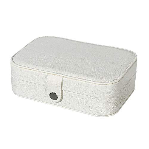 DDD1234 Caja de Almacenamiento de joyería para Mujer, usada para almacenar Accesorios para Mujer, Anillos, Pulseras, Pendientes, Collares (Blanco)