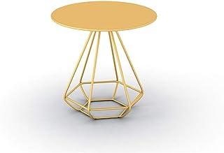 Tables HAIZHEN Pliable d'appoint Ronde en métal d'accent avec Plateau en métal d'appoint d'angle d'appoint Stations de Tra...