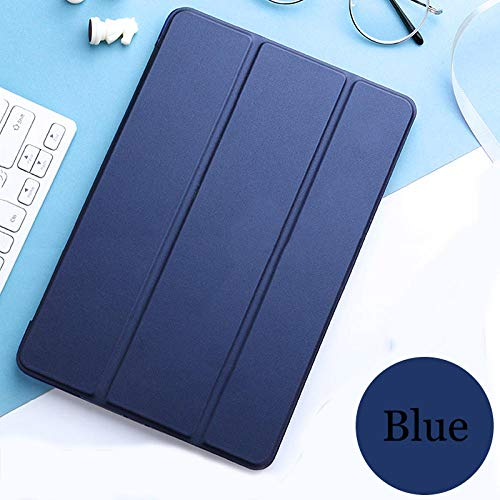 Tablet flip case voor Galaxy Tab ONE 10.1 2016 cover Smart Sleep wake funda Trifold Stand capa solide kaart voor Taba SM-T580 / T585 marineblauw