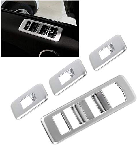 NMQQ 4Pcs Car Chrome Power Window Switch Frame Cover Adecuado para Land Rover Range Rover Sport 2014-2017 Accesorios para Automóviles