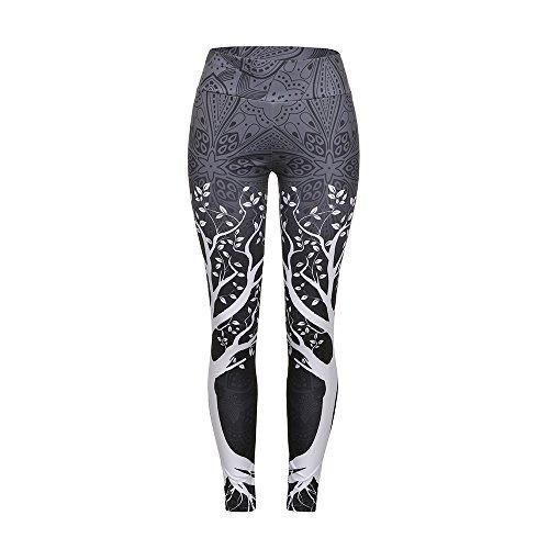 BaZhaHei Mujer Pantalones Largos Deportivos Patrón