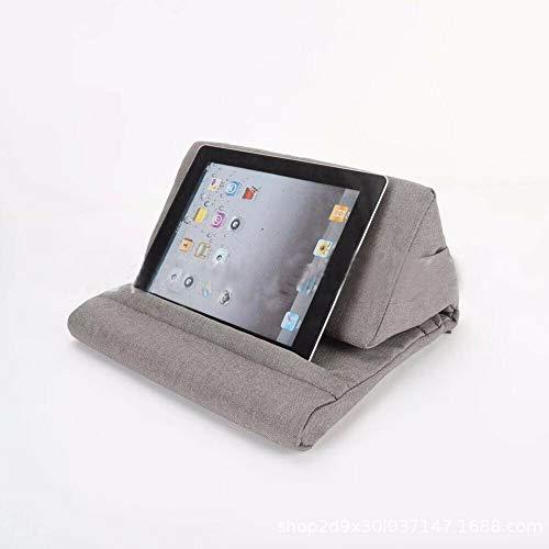 EU Tablet Stand für iPad Air & iPad Telefon & Nexus & Galaxy Kissen Buchleser Halter Rest Lap Reading (Grau)