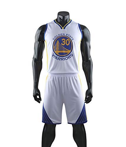 YZQ Trajes De Baloncesto para Niños, Golden State Warriors # 30 Stephen Curry NBA Chalecos Informales Camisetas Camisetas De Baloncesto Camisetas Deportivas Chalecos Deportivos + Pantalones Cortos