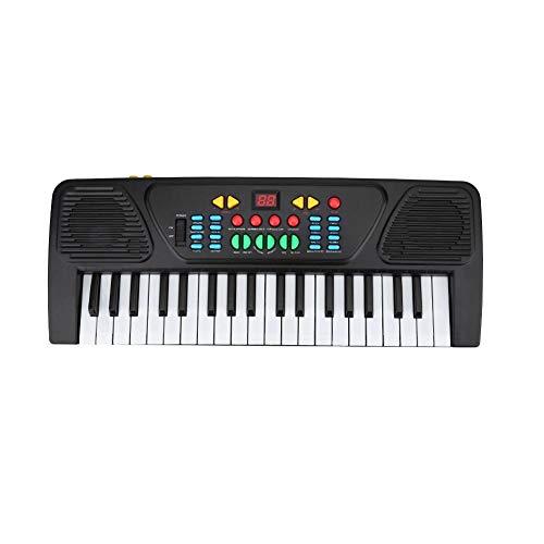 Tastiera per pianoforte digitale portatile per principianti con organo elettronico a 37 tasti con microfono per bambini