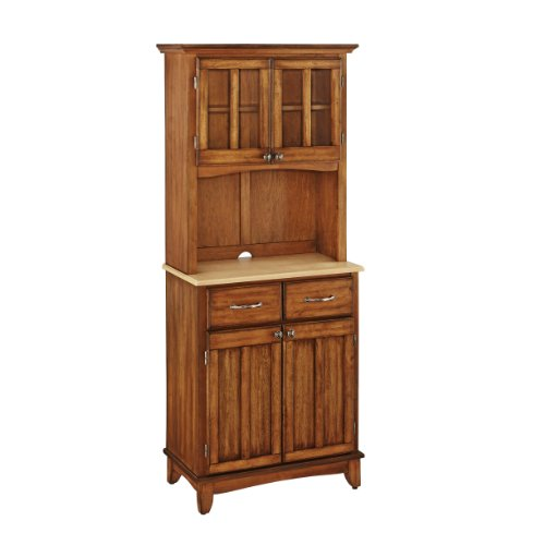 Home Styles Cottage Oak Buffet With Hutch   Amazon