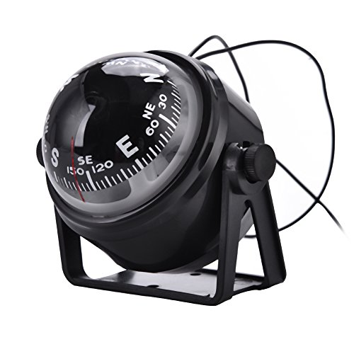 VGEBY Boat Compass, Outdoor High Precision LED Military Digital Magnetic Compass for Car Boat Marine
