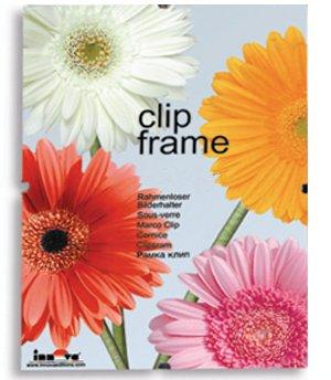 Innova Editions Fotolijst 20 x 25 cm, glazen fotolijst voor foto's of posters, met clips en witte rand langs de achterwand