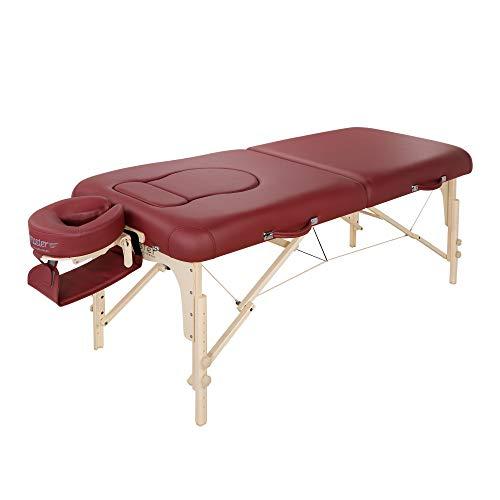 Master Massage Eva Mobil Klappbar Massageliege Schwangerschaftsliege 76cm Burgund