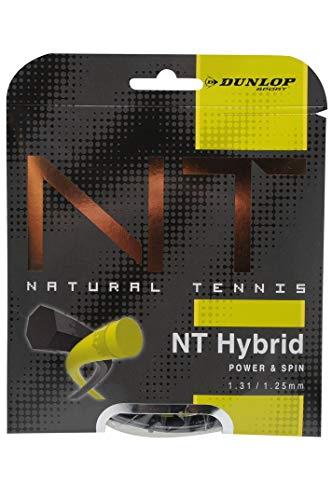 Dunlop Unisex-Adult Saitenset tennis string Revolution NT Hybrid 1.31/1.25 schwarz/gelb 12m Set, One Size