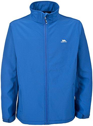 Trespass Vander, Bright Blue, XL, Leichte Wasserdichte Softshelljacke für Herren, X-Large, Blau