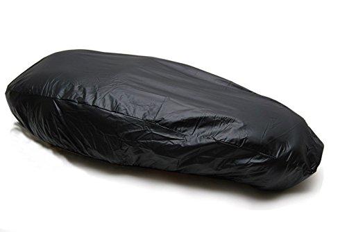 110 cm Motorrad Sitzbankabdeckung raincover Überzug wasserdicht Sitzbezug * Schutz gegen Nässe, Staub * schwarz 110 x 63 cm PVC mit Gummizug