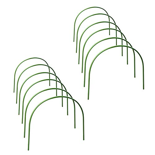 æ— 12 Pack Garden Tyres Greenhouse Tyres Durable Plant Tunnel Support Greenhouse Tunnel Gardening Propagation Frame for Garden