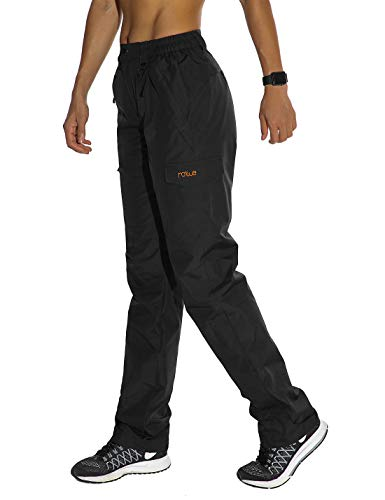 Nonwe Women's Hiking Skiing Cargo Pants Outdoor Hiking Black XL/30 Inseam