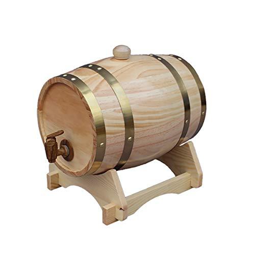 30 Liter Holzfass Eichenfass Weinfass Whiskyfass Liqueur Schnapsfass, Holz Weinfass Spender Anzug für Zuhause, Bar, Party und Bankett,C