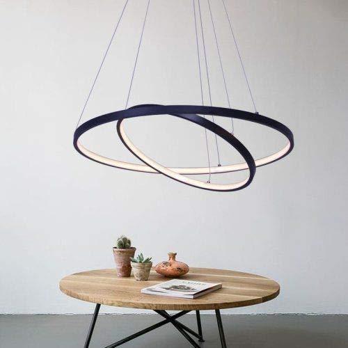 Moderne hanglamp montage plafondverlichting Indoor Design Lamp Eettafel Kroonluchter Metaal en Acryl Opknoping voor Woonkamer Dimbaar (Maat: 60cm)