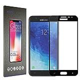 Accetel Protector de Pantalla Cobertura Completa para Samsung Galaxy J7 2018 Cristal Vidrio Templado Compatible con Samsung Galaxy J7 2018 Full Coverage 5.5'' Pulgadas Negro