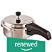 Prestige 3L Alpha Deluxe Induction Base Stainless Steel Pressure Cooker, 3.0-Liter (Renewed)
