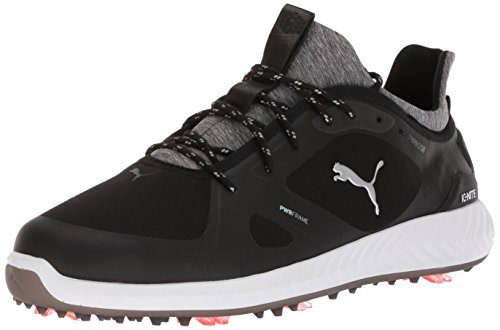 PUMA Golf Men's Ignite Pwradapt Golf Shoe, Black/Black, 9.5 Medium US