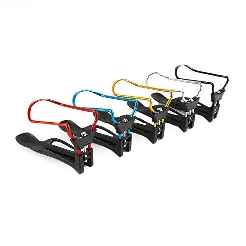 Portabidones para bicicleta, portabotellas de bicicleta, soporte de botella de plástico, elástico ajustable para bicicleta, soporte para botella de agua, jaula de soporte (color: azul)