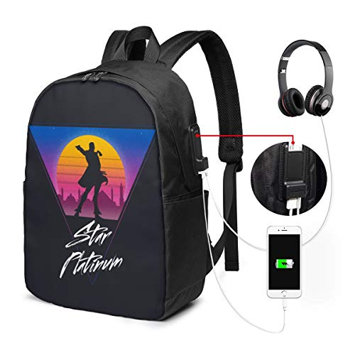 Kuujou Joutarou JoJo's Hip-Hop USB Backpack 17 in Laptop Backpack