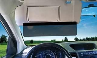 EdgeVisor Tinted Car Anti-Glare Car Sun Visor Sunshade Extender Window Windshield Sunshade and Sun Glare UV Rays Blocker (Tinted 2 Pack)