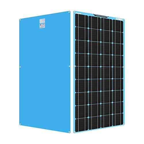 YYANG Solarpanel Einkristall Flexible Platine 18V / 100W Glossy Pet Blue Rückwand Anschlusskasten Vorne