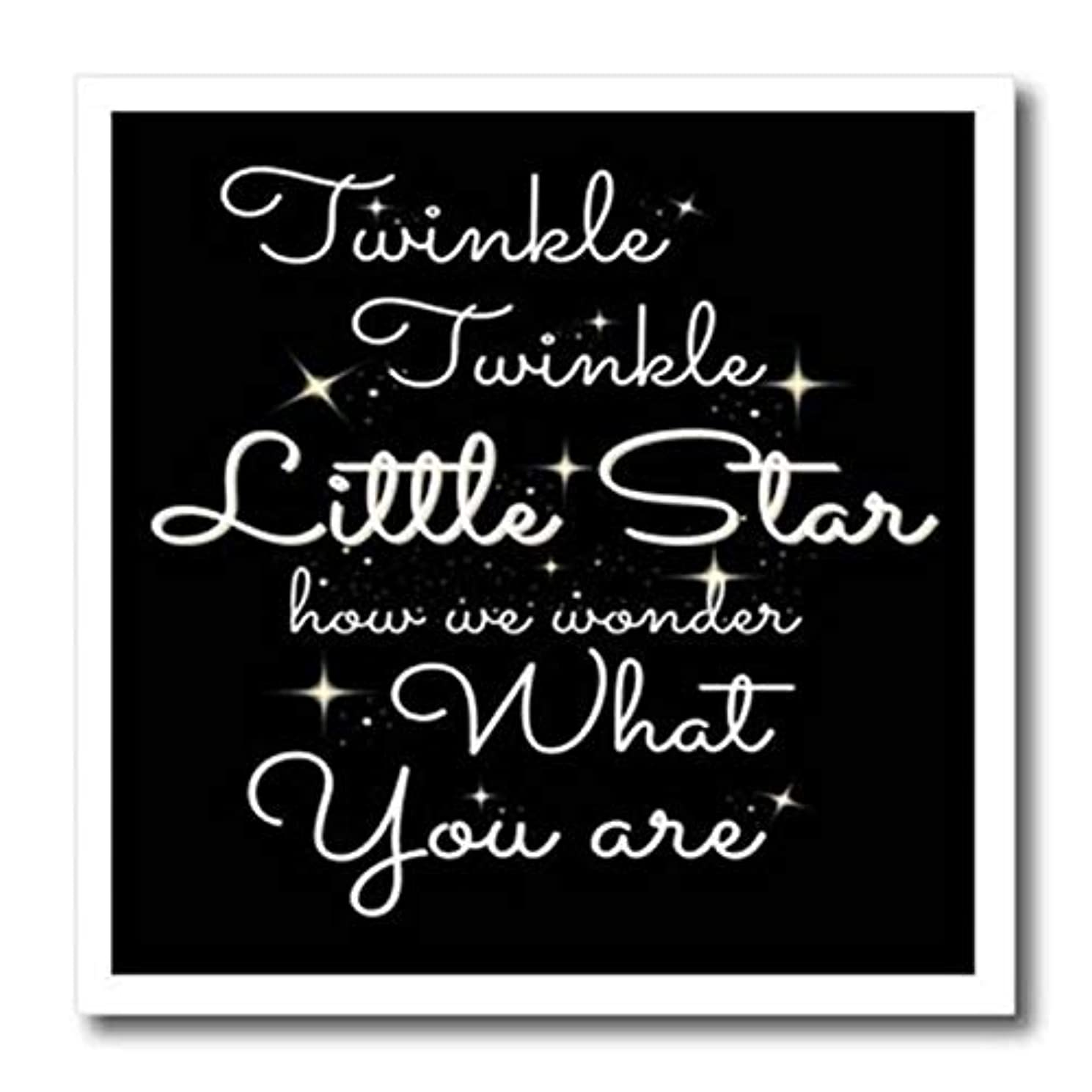 3dRose ht_261190_3 Twinkle Little Star How We Wonder What You are Iron On Heat Transfer, 10